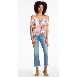Lucky Brand | cold shoulder floral top MEDIUM